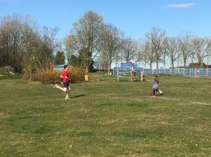 Family running session